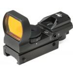 18-110 - Leuchtpunktzielgeräte für jeden Einsatz. - Die LUGER DOT- Leuchtpunktzielgeräte ermöglichen den präzisen Schuss mit Hilfe eines roten Lichtpunktes, der virtuell auf das Ziel projiziert wird.     Leuchtpunktvisier nicht nur für die Kurzwaffe.
