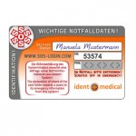 IDENT + MEDICAL - ID-1000 - SOS-Card, 24 months