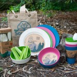 ECOSOULIFE - Sustainable Tableware - ES-PicnicSet - Bamboo Picknick Set, 4 Pers.