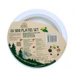 ECOSOULIFE - Sustainable Tableware - ES-BDH-0031NT - Maisstärke Beilagenteller, 17,78 cm, 20 Stk