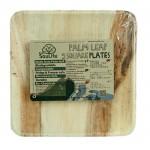 ECOSOULIFE - Sustainable Tableware - ES-PH12-024NT - Palmblatt Teller, quadratisch, 22 cm, 5 Stk