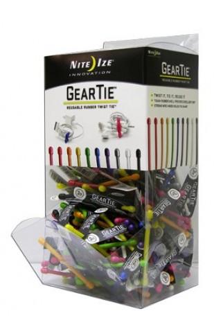 NITE IZE - Innovative Accessories - GT3GB-09-A1 - Gear Tie #3 Kunststoff-Thekendisplay, 200 Stk.