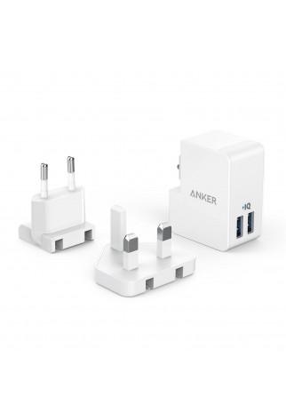 ANKER - Mobile Accessories - AK-A2022321 - PowerPort 2 Lite m. austauschbaren UK- u. EU-Steckern, 17 W