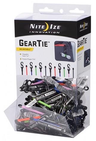 NITE IZE - Innovative Accessories - NI-GLZGB-A1-R9 - Gear Tie Clippable Kunststoff-Thekendisplay
