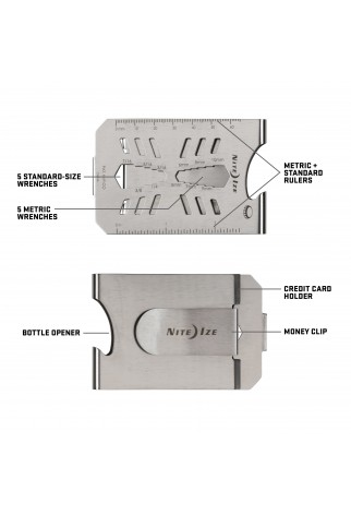 NITE IZE - Innovative Accessories - NI-MCT-11-R7 - Financial Tool® Multi Tool Money Clip – Stainless
