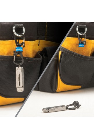 NITE IZE - Innovative Accessories - NI-MSBL - SlideLock 360° Magnetic Locking Dual Carabiner