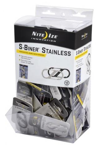 NITE IZE - Innovative Accessories - NI-SBGB-02-A2 - S-Biner Edelstahl Größe 2, Kunststoff-Thekendisplay, 108 Stk.