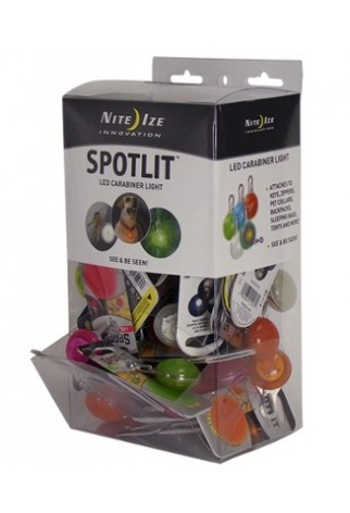 NITE IZE - Innovative Accessories - NI-SLGGB-06-A2 - SpotLit Kunststoff-Thekendisplay neue Farben