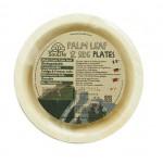 ECOSOULIFE - Sustainable Tableware - ES-PH12-021NT - Palmblatt Beilagenteller, 20 cm, 12 Stk