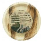 ECOSOULIFE - Sustainable Tableware - ES-PH12-022NT - Palmblatt Teller, 25 cm, 12 Stk